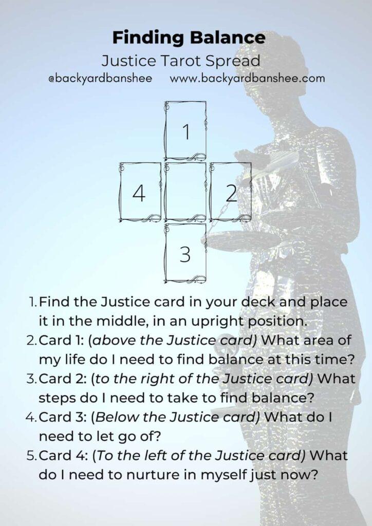 Justice Tarot Spread