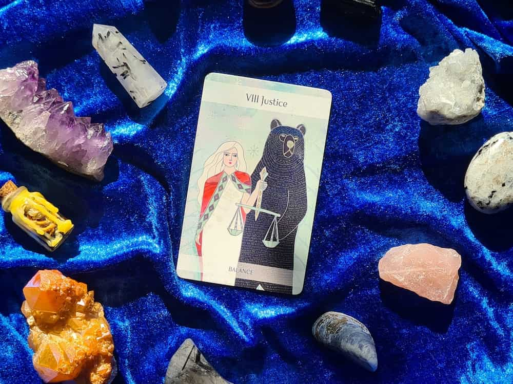 the justice upright tarot card