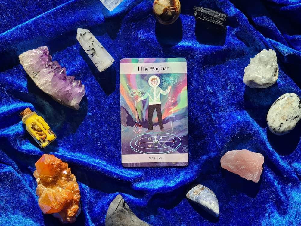 the magician upright tarot card